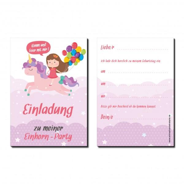 Einladung Einladungskarte Kindergeburtstag Einhorn Party