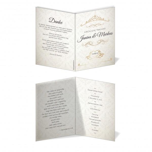Kirchenprogramm Hochzeit - Ornament