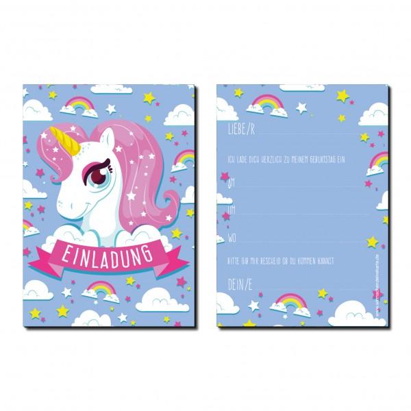 Einladung Einladungskarte Kindergeburtstag Einhorn