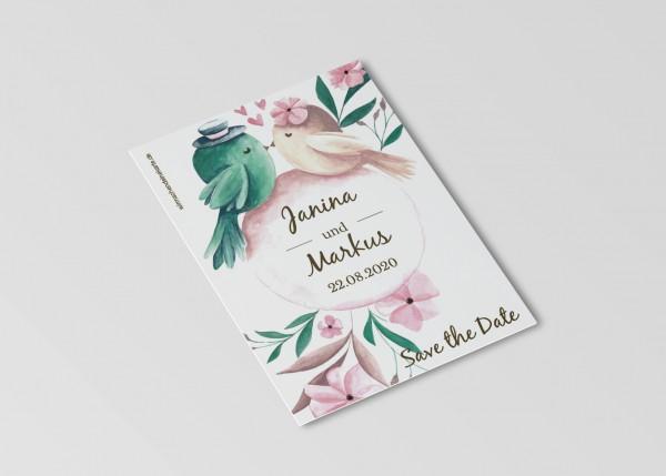 Save the Date Karten Einladung Hochzeit - Tweet
