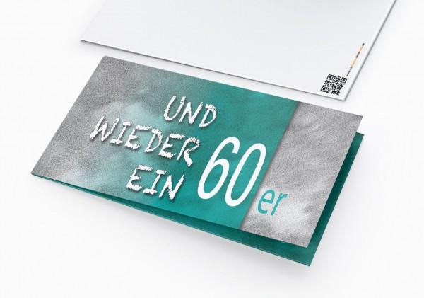 Geburtstag Einladungskarten - 60. Geburtstag und wieder ein 60er Grün