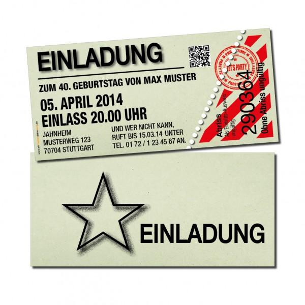 Einladung Einladungskarte lustig Geburtstag Kino grün individuell