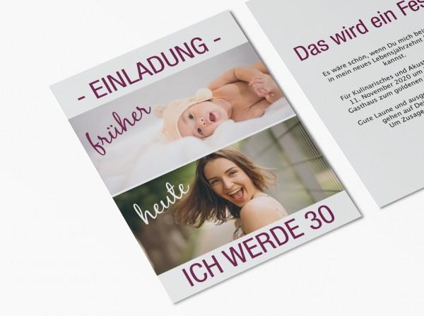 Einladungskarten 30. Geburtstag von früher bis heute