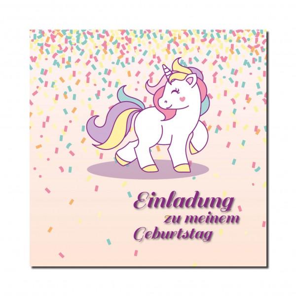 Einladung Einladungskarte Kindergeburtstag Einhorn Pony