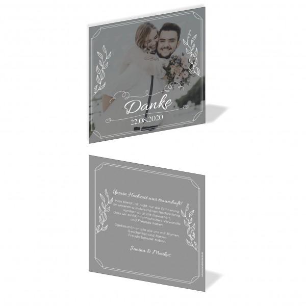 Dankeskarten Danke Hochzeit - Großes Bild