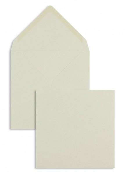 Quadratische Briefumschläge Nassklebend - creme