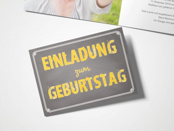 Einladungskarten 60. Geburtstag Schild