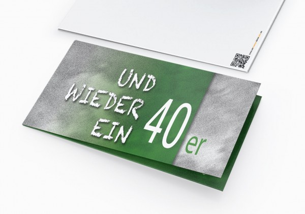 Geburtstag Einladungskarten - 40. Geburtstag und wieder ein 40er Grün