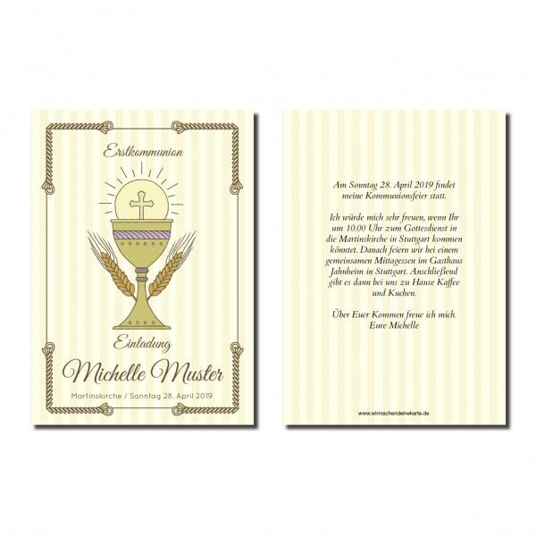 Einladung Einladungskarte Kommunion Classic