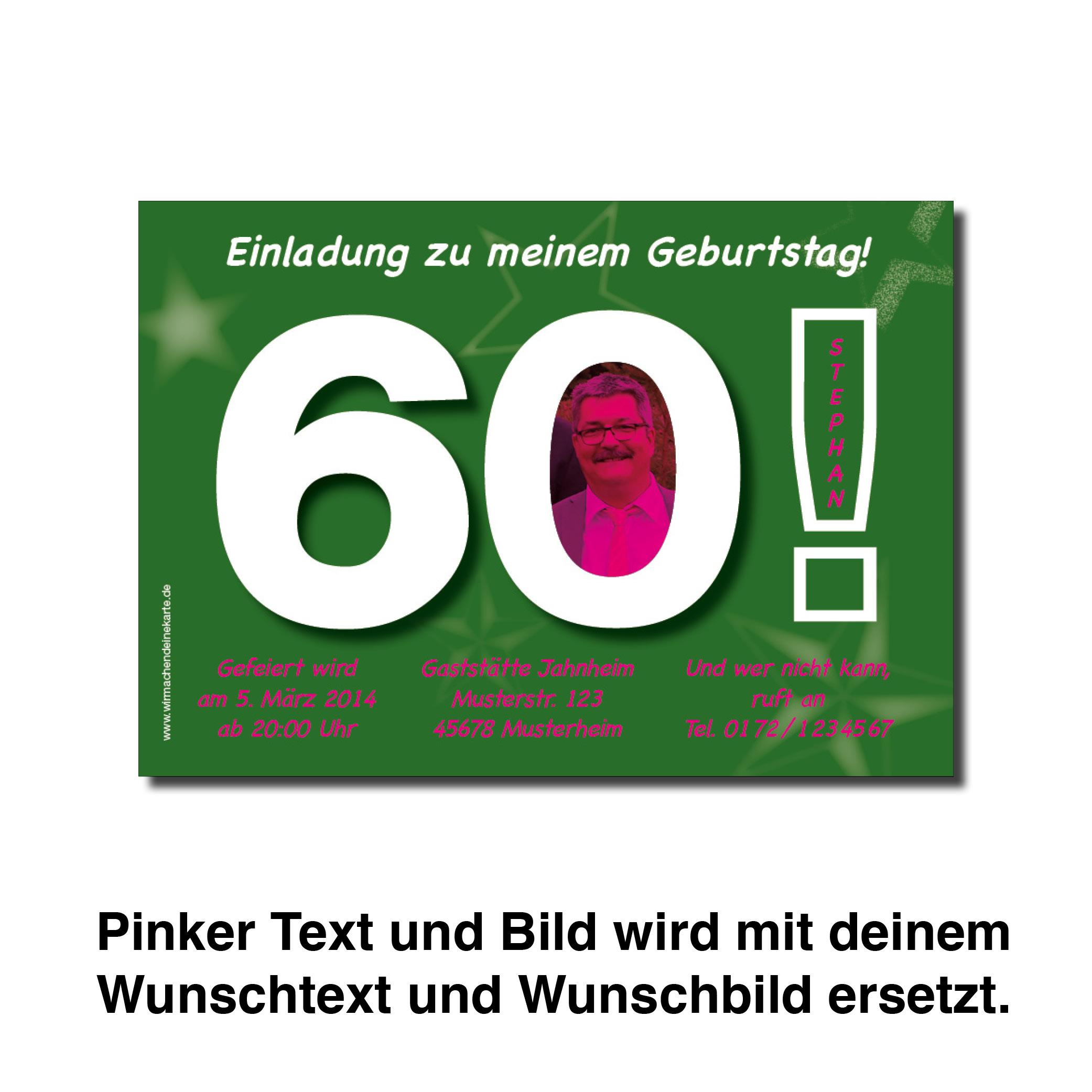 Ausgefallene Einladungskarten Zum 60 Geburtstag
