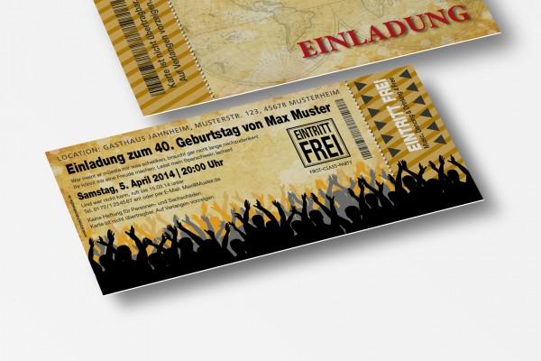 Eintrittskarte Einladung Einladungskarte lustig Geburtstag 4