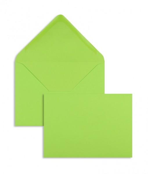 DIN A6 Briefumschläge Nassklebend - grün