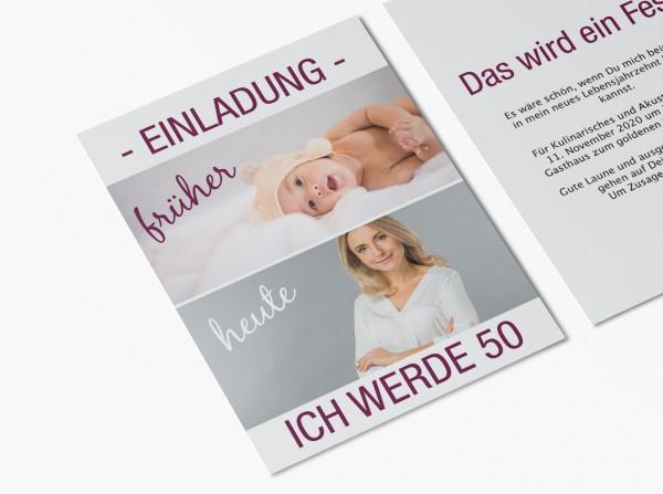 Einladungskarten 50. Geburtstag von früher bis heute