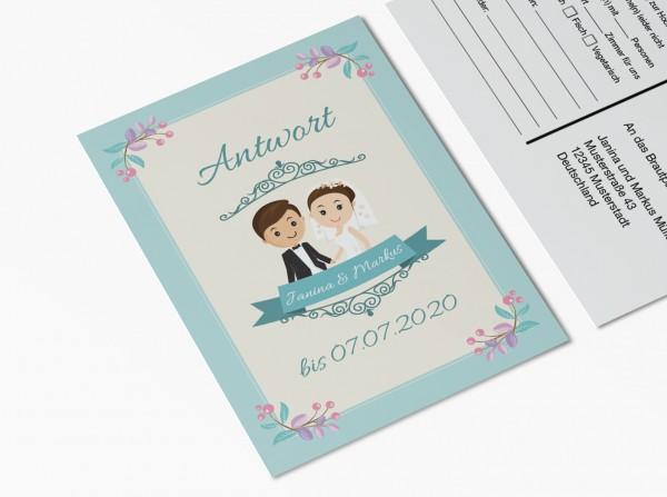Antwortkarten für Einladung Hochzeit - Großer Tag