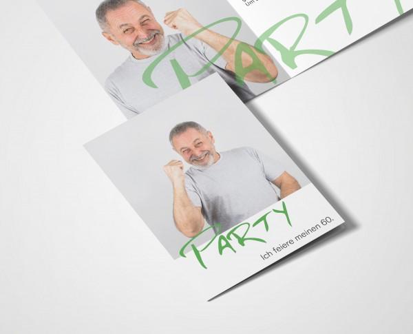 Einladungskarten 60. Geburtstag Party