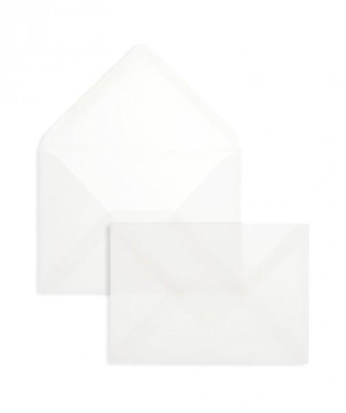 DIN A6 Briefumschläge Nassklebend - transparent