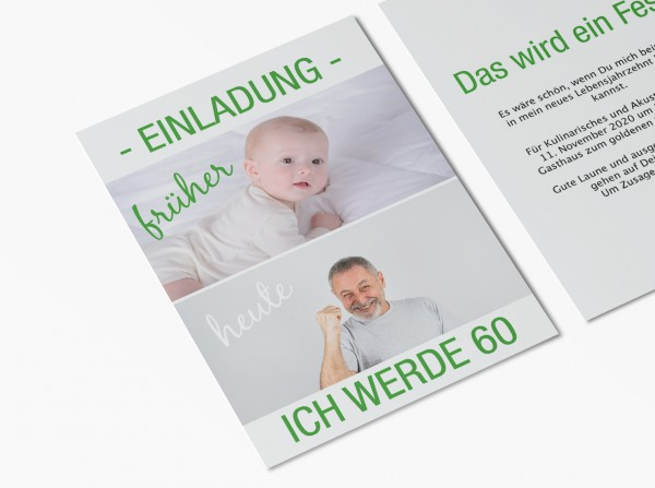 Einladungskarten 60. Geburtstag von früher bis heute