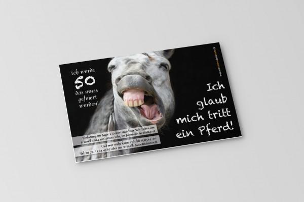 Einladung Einladungskarte lustig Geburtstag Pferd
