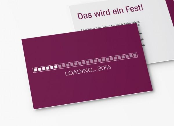 Einladungskarten 30. Geburtstag Loading lila