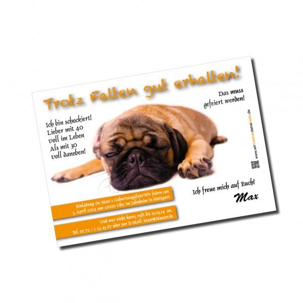 Einladung Einladungskarte lustig Geburtstag Hund individuell
