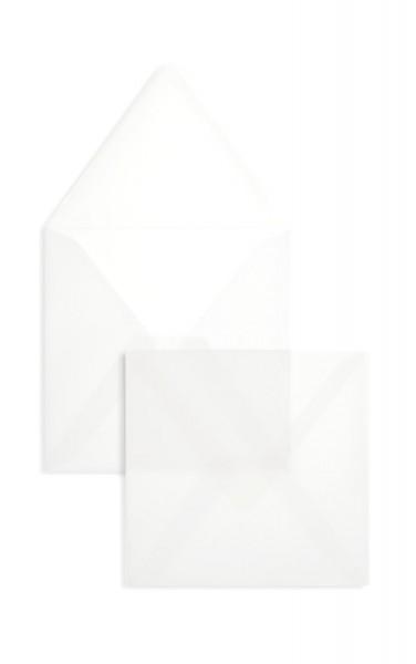 Quadratische Briefumschläge Nassklebend - transparent