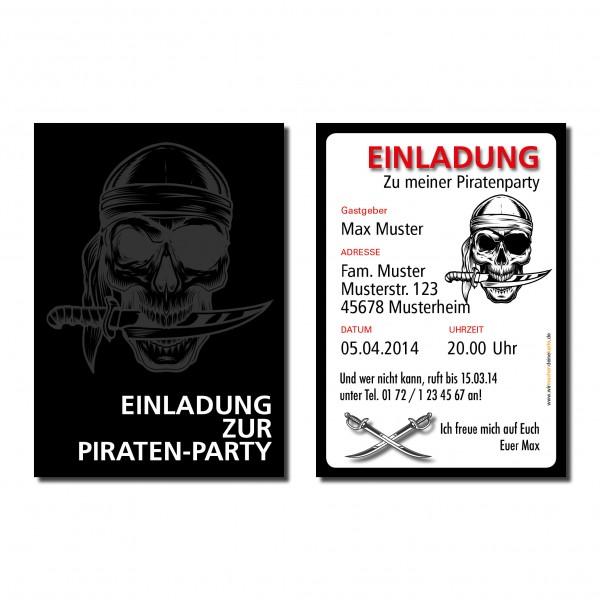 Einladung Einladungskarte Kindergeburtstag Seeräuber