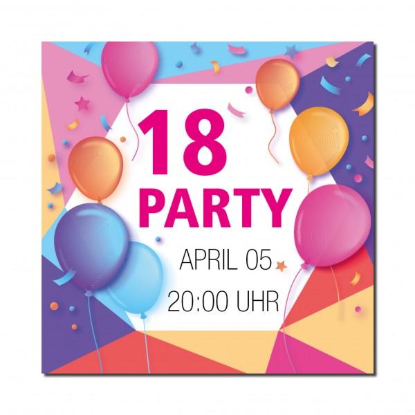 Einladung Einladungskarte 18. Geburtstag Balloon