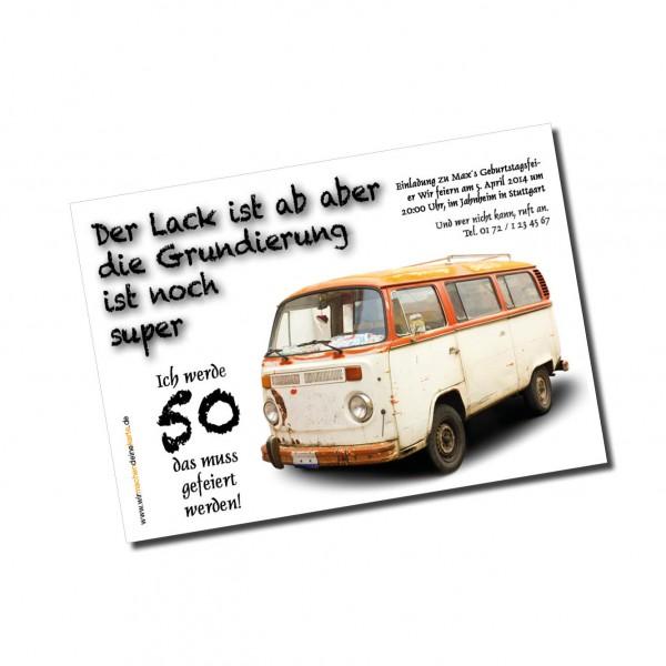 Einladung Einladungskarte lustig Geburtstag Alter Bus