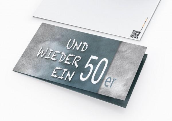 Geburtstag Einladungskarten - 50. Geburtstag und wieder ein 50er Blau
