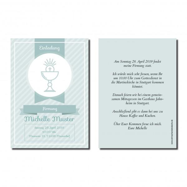 Einladung Einladungskarte Firmung Heiliger Kelch