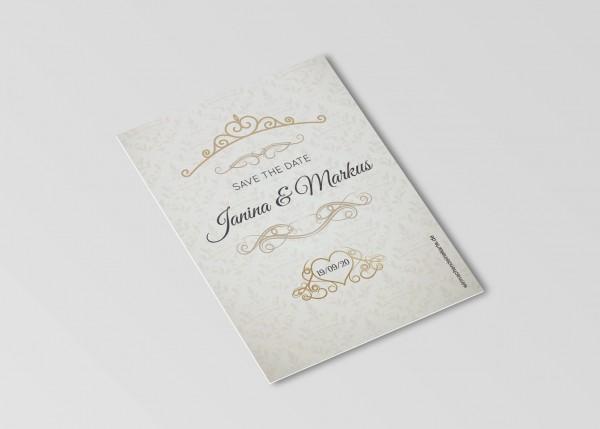 Save the Date Karten Einladung Hochzeit - Ornament