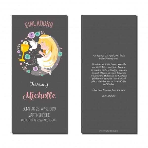 Einladung Einladungskarte Firmung Beten