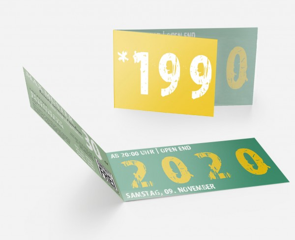 Geburtstag Einladungskarten - 30. Geburtstag Zeitsprung grün