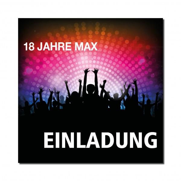 Einladung Einladungskarte 18. Geburtstag Festival