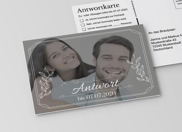 Antwortkarten für Einladung Hochzeit - Großes Bild