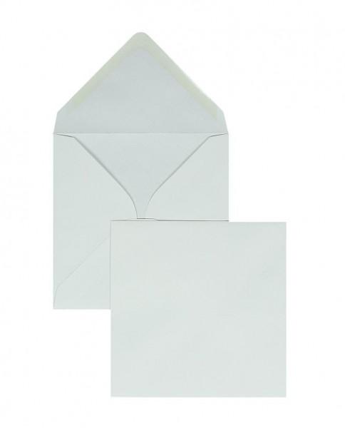 Quadratische Briefumschläge Nassklebend - weiss