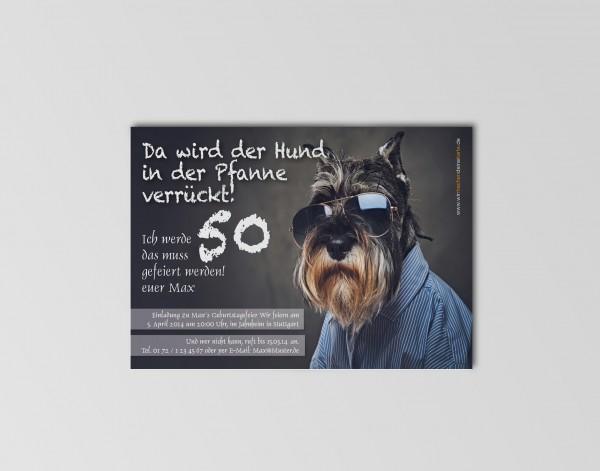 Geburtstag Einladungskarten - 50. Geburtstag Schnauzer
