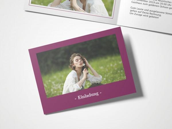 Einladungskarten 30. Geburtstag Elegant