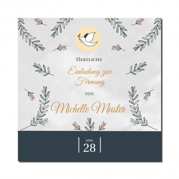 Einladung Einladungskarte Firmung Floral