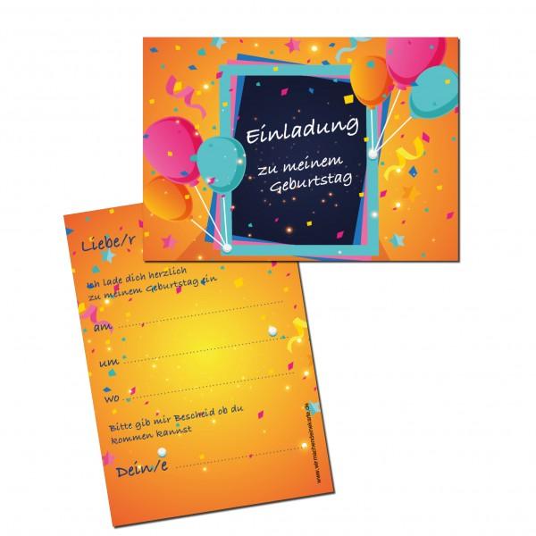 Einladung Einladungskarte Kindergeburtstag Ballon Party