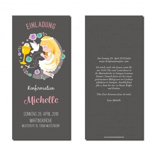 Einladung Einladungskarte Konfirmation Beten