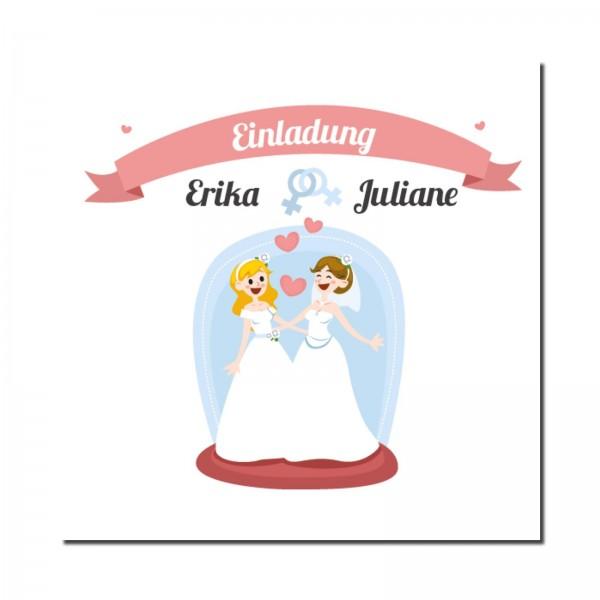 Einladungskarten Hochzeit Hochzeitskarten mit Druck - Frau & Frau