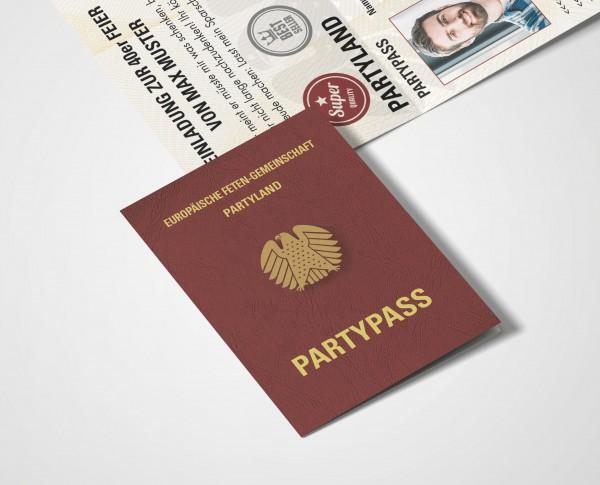 Einladung Einladungskarte lustig Geburtstag Reisepass