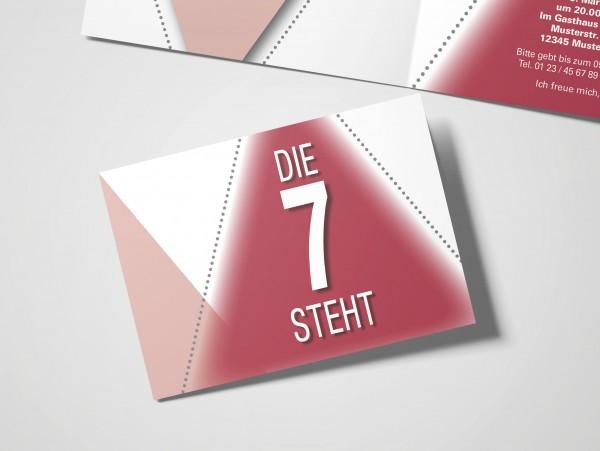 Geburtstag Einladungskarten - 70. Geburtstag Die 7 steht Rot