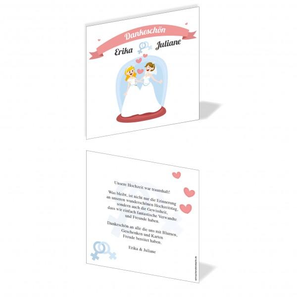 Dankeskarten Danke Hochzeit - Frau & Frau