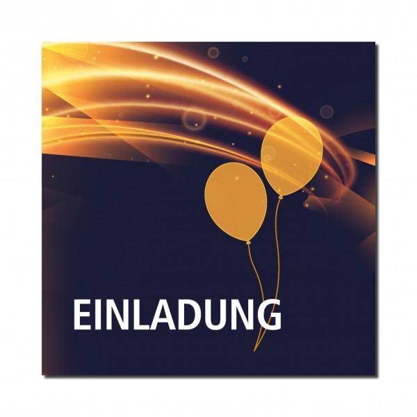 Einladung Einladungskarte 18. Geburtstag Light Balloon