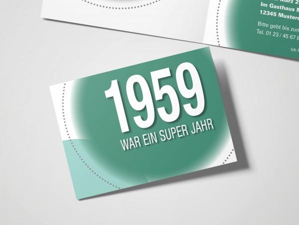 Geburtstag Einladungskarten - 60. Geburtstag Super Jahr Grün