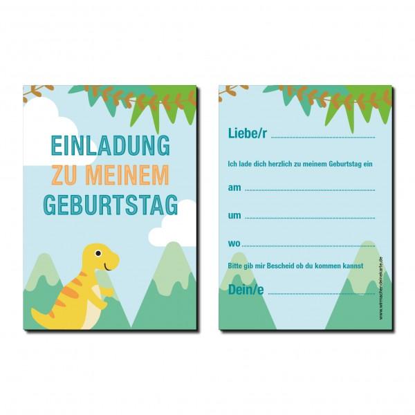 Einladung Einladungskarte Kindergeburtstag Dino