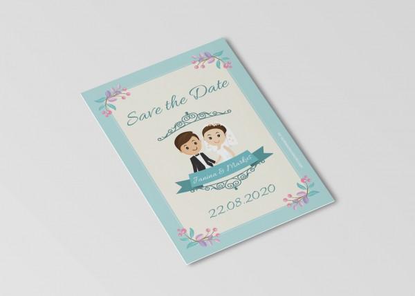 Save the Date Karten Einladung Hochzeit - Großer Tag