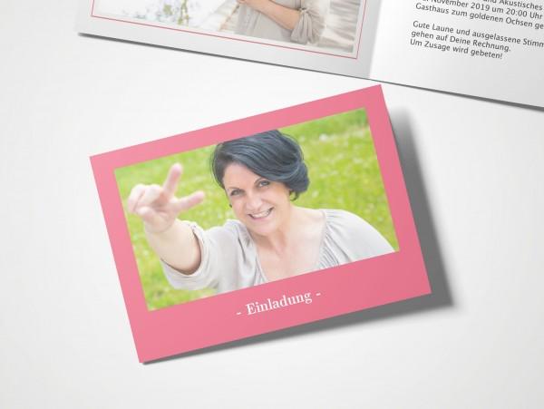 Einladungskarten 60. Geburtstag Elegant